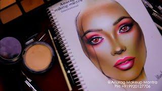 3D Realistic Face Chart Work World Best Diploma Makeup Full Course Start15 July Mum Call 9920127706