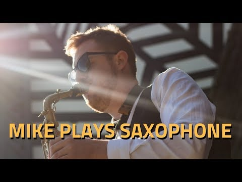 Mike Plays Saxophone Video