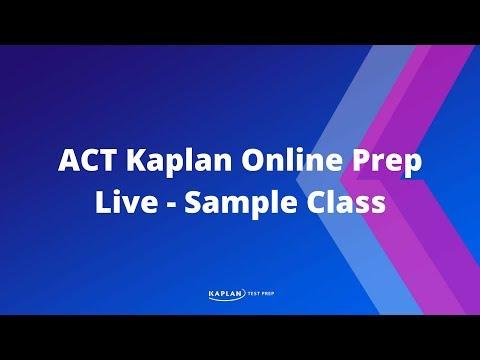 Watch a Kaplan Live Online ACT Prep Class - YouTube