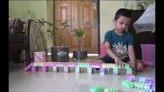 Toy Bridge Made By Kids 😍😍 Using Block Toys