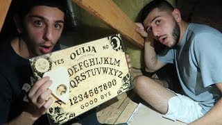 OUIJA BOARD IN MY HAUNTED ATTIC... *we got threatened*