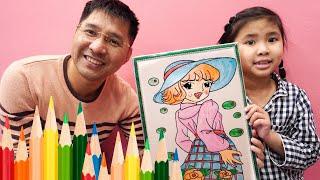 Bé Bún Tô Tranh Bạn Gái ♥♥ Coloring girlfriend