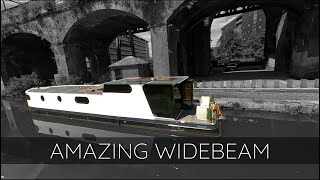 AMAZING WIDEBEAM CANAL BOAT!! MANCHESTER UK!   FPV CINEMATIC