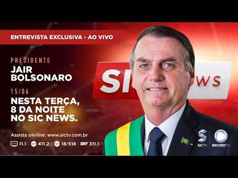 Presidente Jair Bolsonaro concede entrevista a Everton Leoni no SIC NEWS - Gente de Opinião