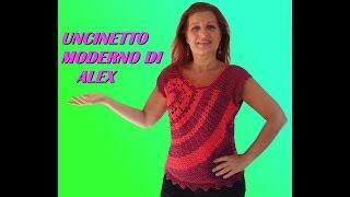 MAGLIA FREE FORM UNCINETTO TUTORIAL PARTE 2 Alex Crochet