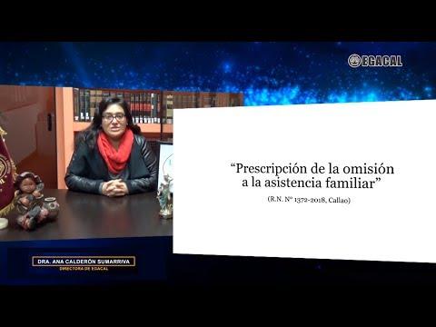 PRESCRIPCIÓN DE LA OMISIÓN A LA ASISTENCIA FAMILIAR - Luces Cámara Derecho 131