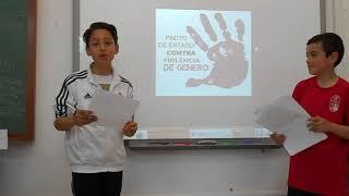VIOLENCIA DE GÉNERO: Vídeo voluntario de alumnos de 4ºA
