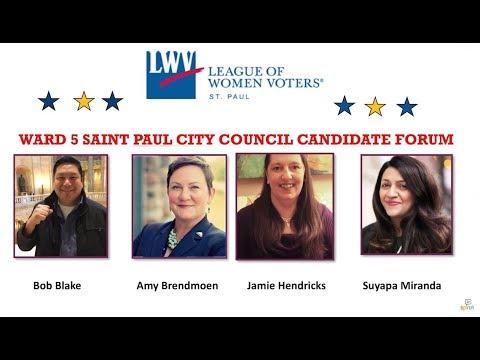 Ward 5 Candidate Forum - 10-10-19