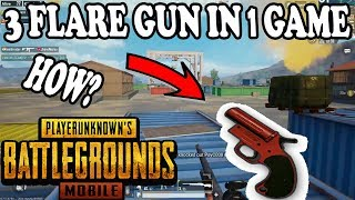 OMG 3 FLARE GUN IN ONE GAME HOW ? PUBG MOBILE   HOW TO GET FLARE GUN IN 0.8.0 UPDATE?