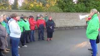 preview picture of video '(15/10/2013): Péruwelz - Grève au CPAS (01)'