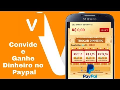 GANHE Dinheiro no Paypal Convidando Amigos - VOVA