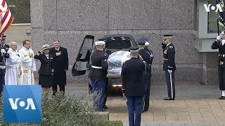 Bush Arrives at Presidential Library for Burial