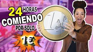 Un DIA Entero COMIENDO Por SOLO 1 €! 💰24 Horas Pasando HAMBRE??