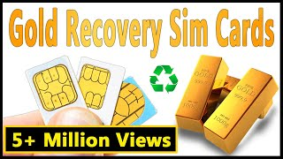 📱Sim cards recycling📱Gold recovery from cell phone sim card