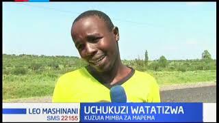 Shughuli za usafiri katika barabara kuu ya Kajiado-Namanga yatatizika kutokana na maandamano