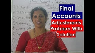 Final Accounts Problems With Adjustments