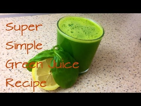 Video HOW TO MAKE GREEN JUICE RECIPE WITH A BLENDER