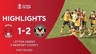Devitt's Sublime Long-Range Strike! | Leyton Orient 1-2 Newport County | Emirates FA Cup 2020-21
