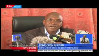 CORD in confused state as Ford Kenya refutes nominations proposal, KTN Prime 21st September 2016