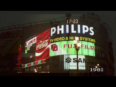 Piccadilly Circus time travel 1900-2009