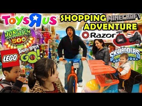 TOYS R US Family Shopping Adventure: Razor Crazy Cart + Monster 500, Angry Birds Go, Minecraft & Mor