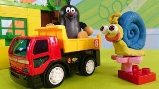 Мультфильм про Кротика и Улитку - Лепим из пластилина - Игрушки для детей