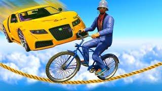 КРУТИ ПЕДАЛИ ВЕЛИКА ИЛИ БУДЬ СБИТ МАШИНОЙ В ГТА 5 ОНЛАЙН ! (BMX VS CARS)