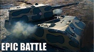 Танк МАУС лучший бой 🌟 ЭПИЧЕСКИЙ КОЛОБАНОВ 🌟 World of Tanks MAUS epic battle