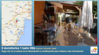 preview picture of video '3 dormitorios 1 baño Villa se Vende en Dolores, Alicante, Spain'