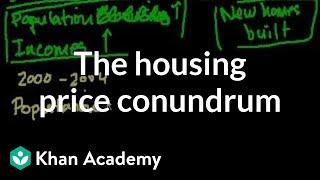 The housing price conundrum