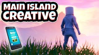 How to get to *MAIN ISLAND* in Creative! (With Phone & Inventory)
