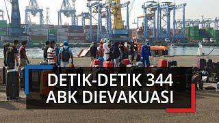 Detik-detik 344 WNI Awak Kapal Pesiar MV Veendam Dievakuasi ke Tanjung Priok, Terapkan SOP Kesehatan