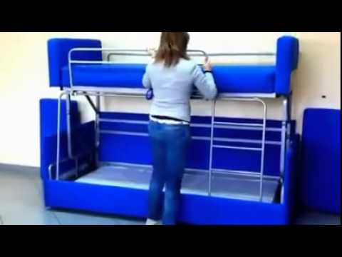 Amazing Sofa To Bunk Bed Transformation