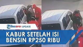 Viral Video Pengemudi Avanza Kabur setelah Isi Pertalite Rp250 Ribu, Ada Dua Petugas tapi Tak Sadar