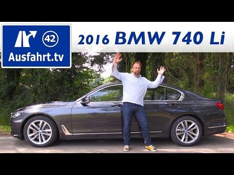 2016 BMW 740Li (G12) - Fahrbericht der Probefahrt, Test, Review Ausfahrt.tv