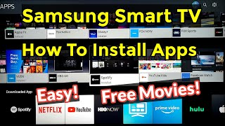How To Easily Install Download Apps on Samsung RU7100 Smart TV 4K! Free Movies & TV Shows!