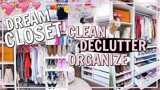 DREAM CLOSET MAKEOVER BEFORE & AFTER TOUR! CLEAN DECLUTTER ORGANIZE | Alexandra Beuter