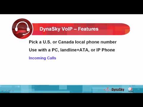 Watch video to learn more about DynaSky VoIP