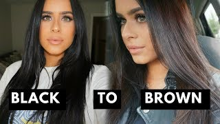 From Black To Brown Hair | How I Lightened My Hair