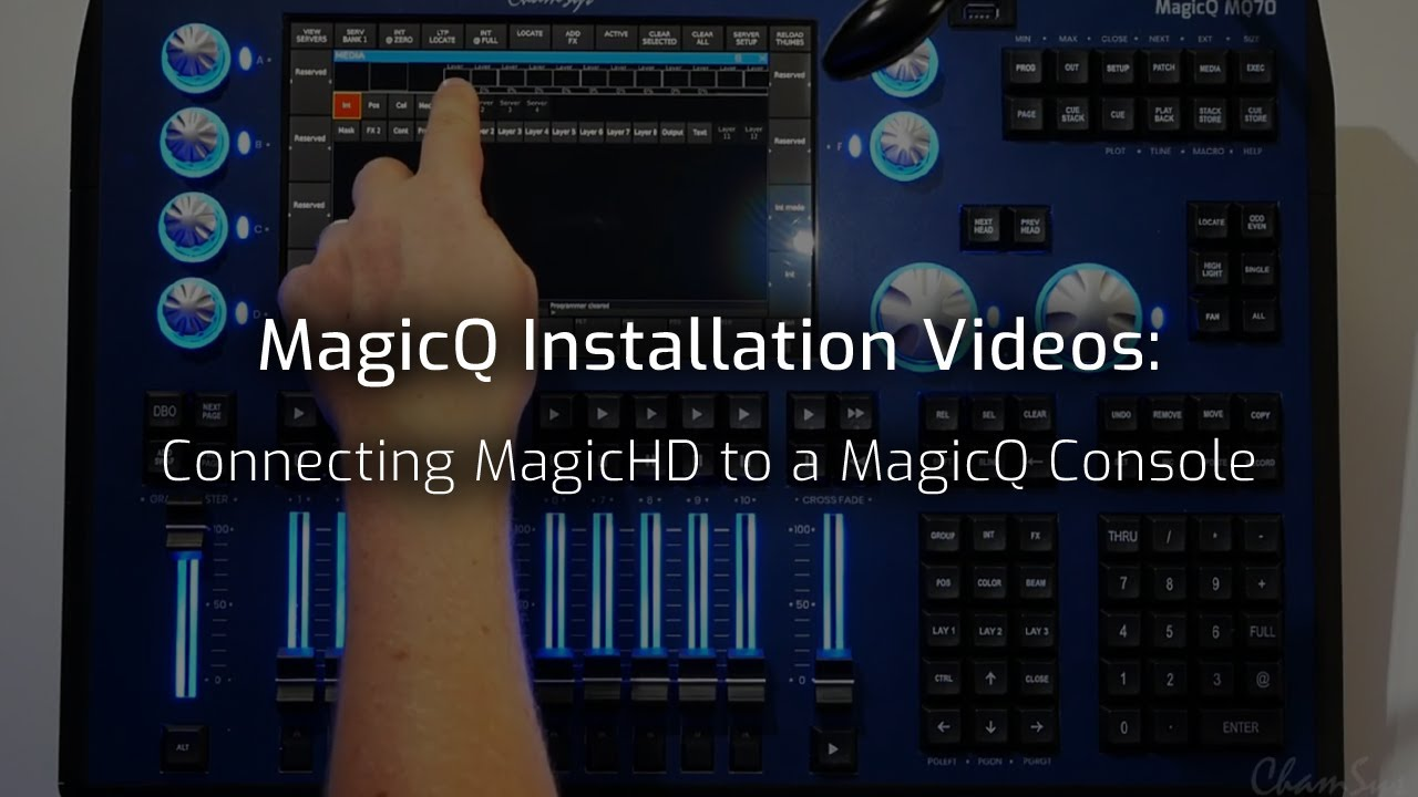 Connecting MagicHD to a MagicQ Console