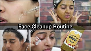 How to do a face clean up at home? || Step By Step Face Cleanup
