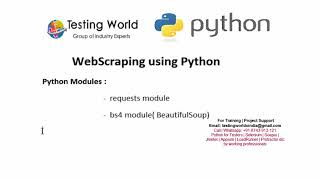 WebScraping Introduction : Fetch data using Python