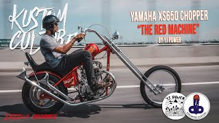 "[Kustom Culture] ""The Red Machine"" XS650 Old School Chopper By YJ Power"