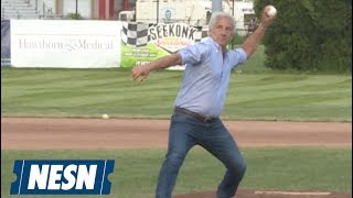 Joseph Abboud Rocks Bay Sox Game With Stellar First Pitch