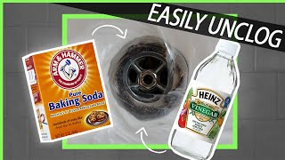 How To Easily Unclog A Drain Without Harsh Chemicals (Baking Soda + Vinegar)