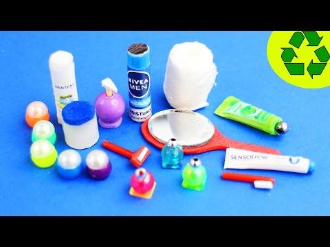 🚽🛀 10 Easy DIY Miniature Bathroom Products - each in less than 1 minute #1 - simplekidscrafts