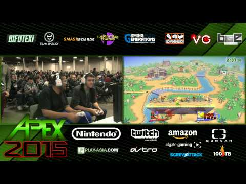 Apex 2015 - SSB4 - Pawclaw (Falco; Donkey Kong) vs Sky Williams (Yoshi)
