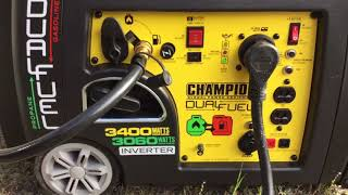 Champion 3400 Dual Fuel, A/C & Microwave Test