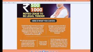 How to exchange old 500 and 1000 notes full detail हिंदी and english