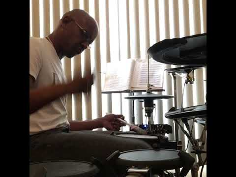 Modulating rudiment drum solo, featuring: double stroke open rolls, flams, drags & ratamacue.